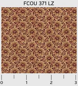 French Country Tan Floral Repeat 371LZ