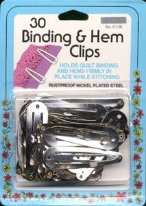 Collins Binding & Hem Clips