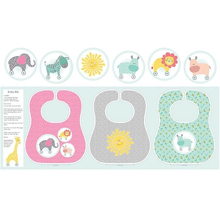 My Little Sunshine Baby Bib Panel from Benartex 3120-99