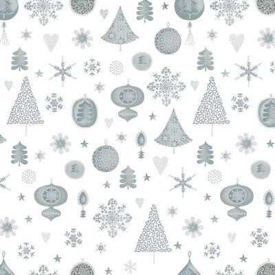 Magical Moments Metallic Silver Ornaments from Blank Quilting 4593-100
