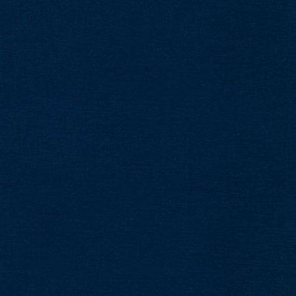 Kona Navy Blue Solid Fabric 1243 from Robert Kaufman by the yard