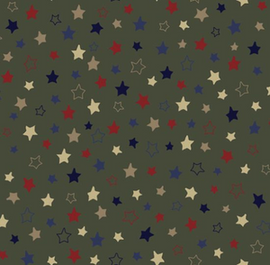 Love My Hero Olive Stars 24786G from Quilting Treasures