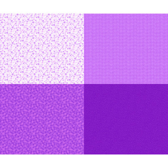 Mingle Purple 4 Patch Fabric 27278-VL from Quilting Treasures by the yard