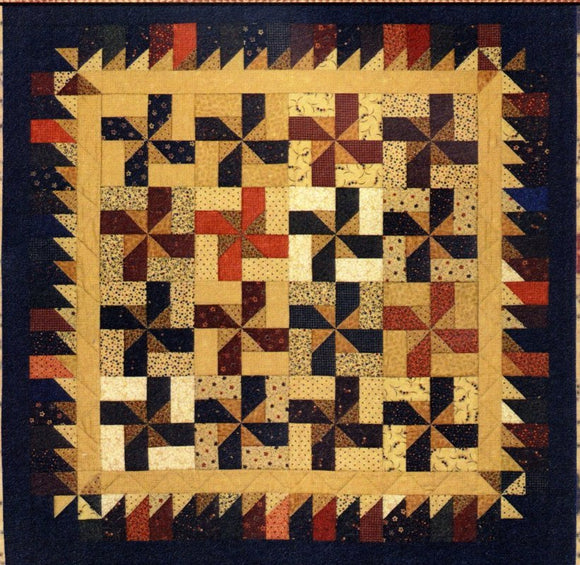 Windmills On The Plains Quilt Pattern from Kansas Troubles