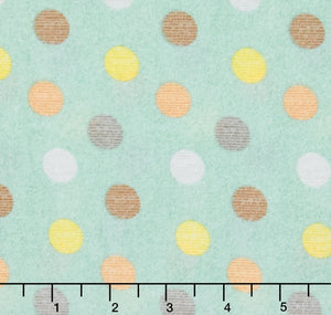 Zoovenirs Flannel LT Blue Dots Flannel Fabric F8527-011 from Blank by the yard