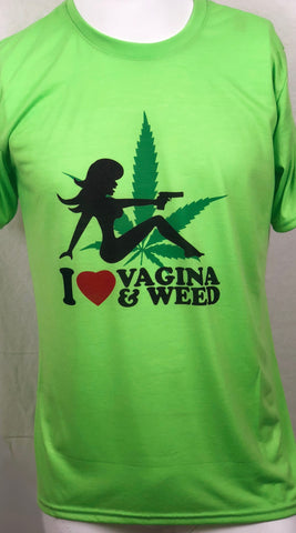 I Love Vagina and Weed Gun Girl