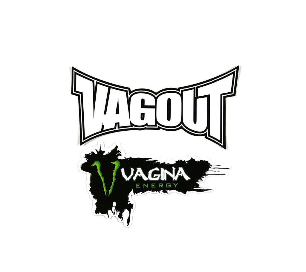 VAGOUT AND MONSTER VAGINA ENERGY STICKER SET