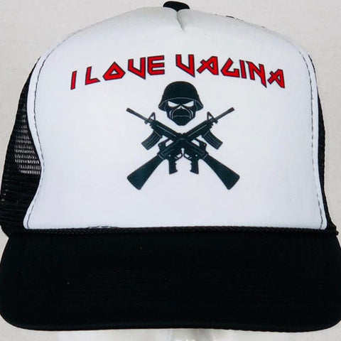 Guns and Skull Trucker Hat