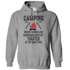 Camping Where Friends And Marshmallows Get Toasted At The Same Time T-Shirt - happycamperoutfitters