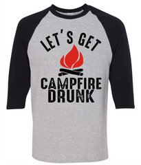 Let's Get Campfire Drunk T-Shirt - happycamperoutfitters