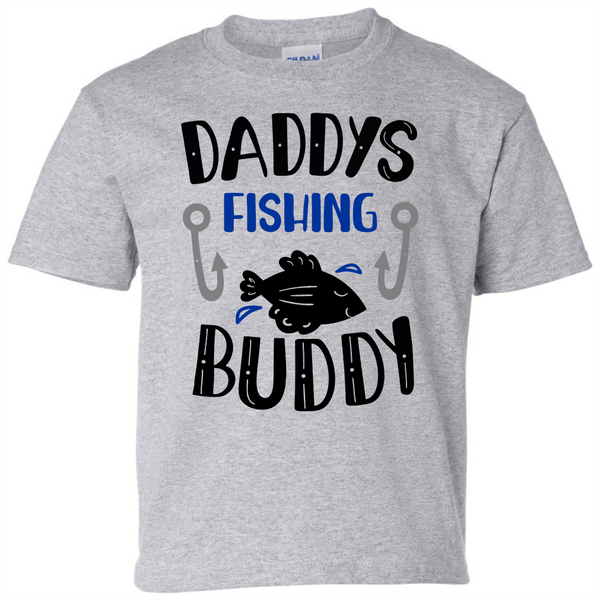 Daddy's Fishing Buddy 2 T-Shirt - happycamperoutfitters