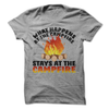 What Happens At The Campfire Stays At The Campfire T-Shirt - happycamperoutfitters