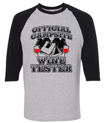 Official Campsite Wine Taster T-Shirt - happycamperoutfitters