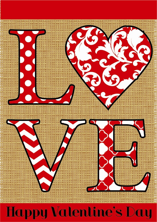Burlap LOVE Valentine's Day