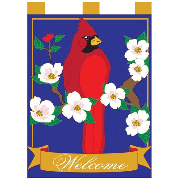 Cardinal with Dogwood