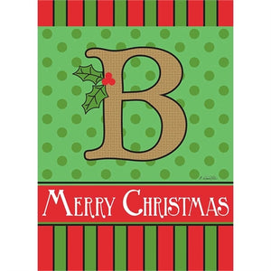 "Holiday Monogram ""B"""