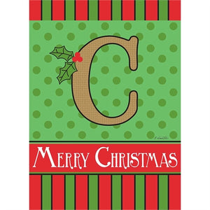"Holiday Monogram ""C"""