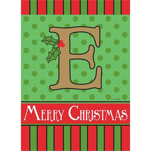 "Holiday Monogram ""E"""