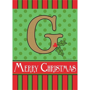 "Holiday Monogram ""G"""