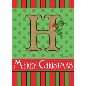 "Holiday Monogram ""H"""