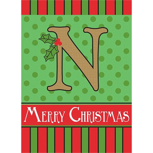 "Holiday Monogram ""N"""