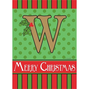 "Holiday Monogram ""W"""