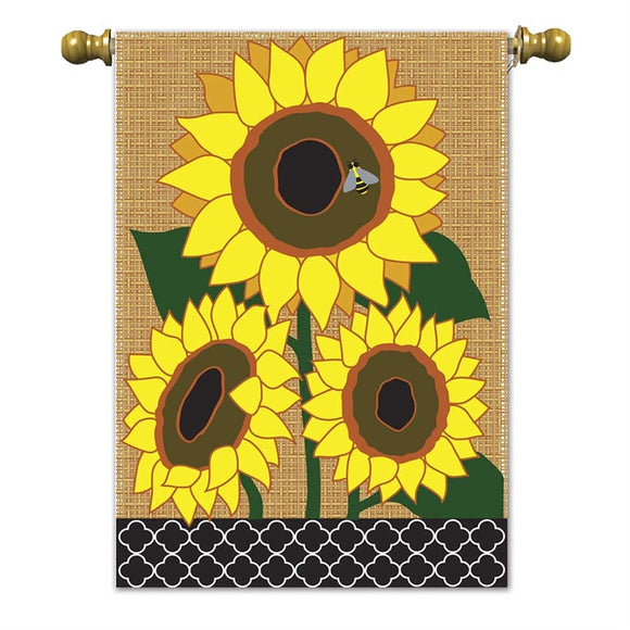 Burlap Sunflowers