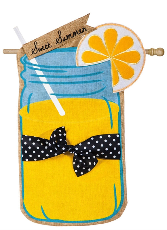Sweet Summer Burlap Flag