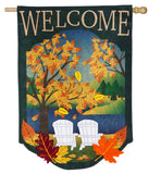 Fall Adirondack Burlap Flag
