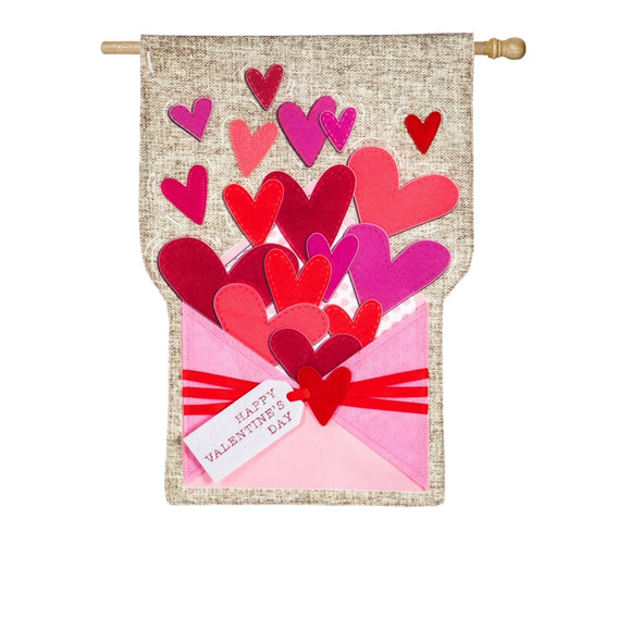 Envelope of Wishes Linen Flag