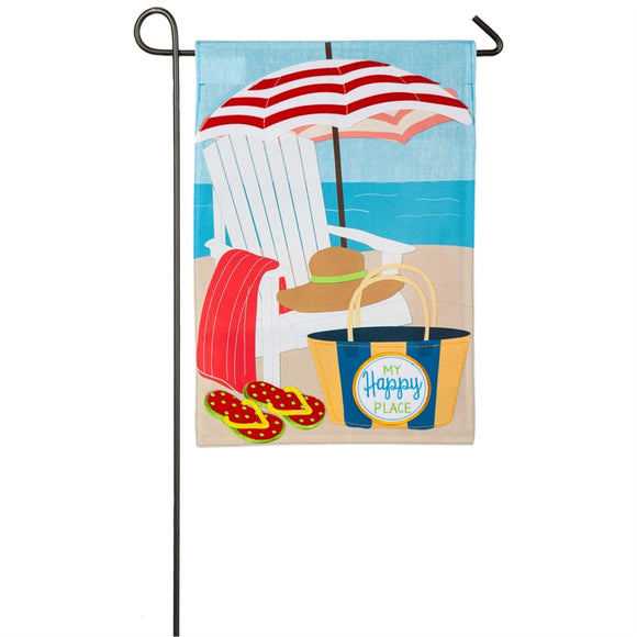 My Happy Place Beach Flag