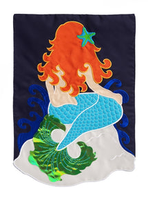 Mermaid Applique Flag