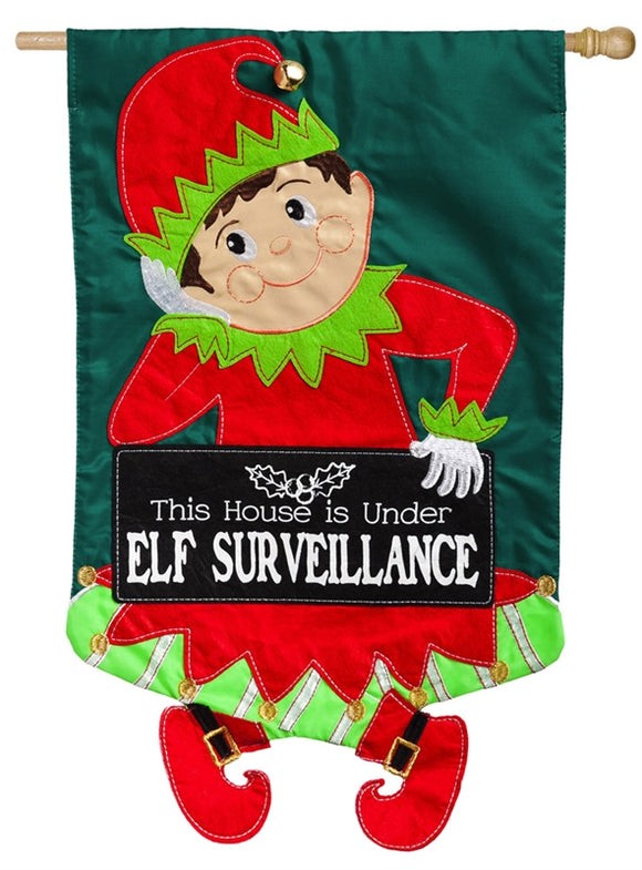 Elf Surveillance Applique Flag