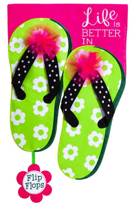 9a061ca1ec64 Life is Good in Flip Flops Applique Flag – Wind Designs