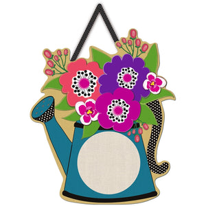 Watering Can Letter Perfect Door Decor