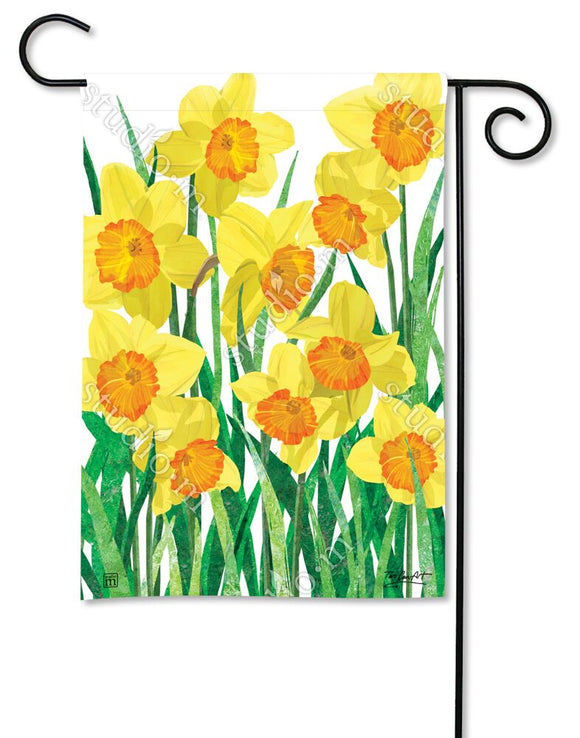 Daffodils in Bloom Garden Flag