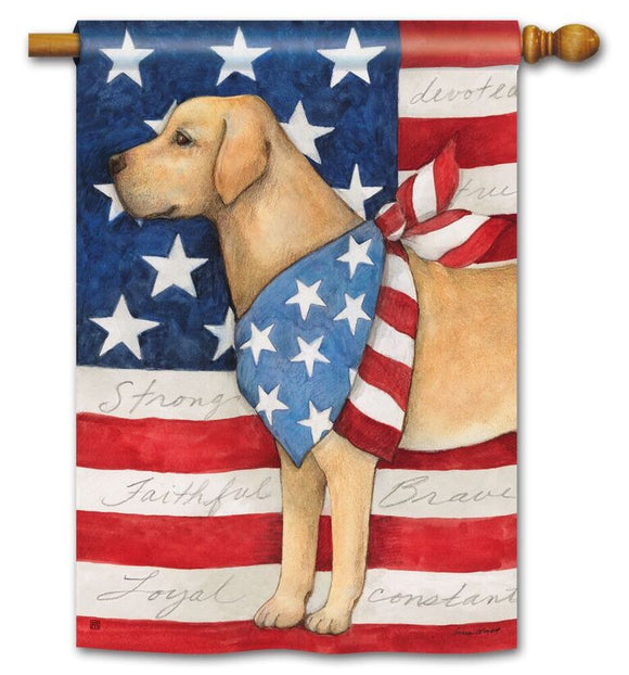 Patriotic Pup Flag