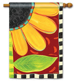 Whimsical Sunflower Flag