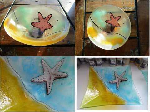 Fused Glass Starfish Dishes