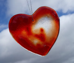 Red Heart Suncatcher