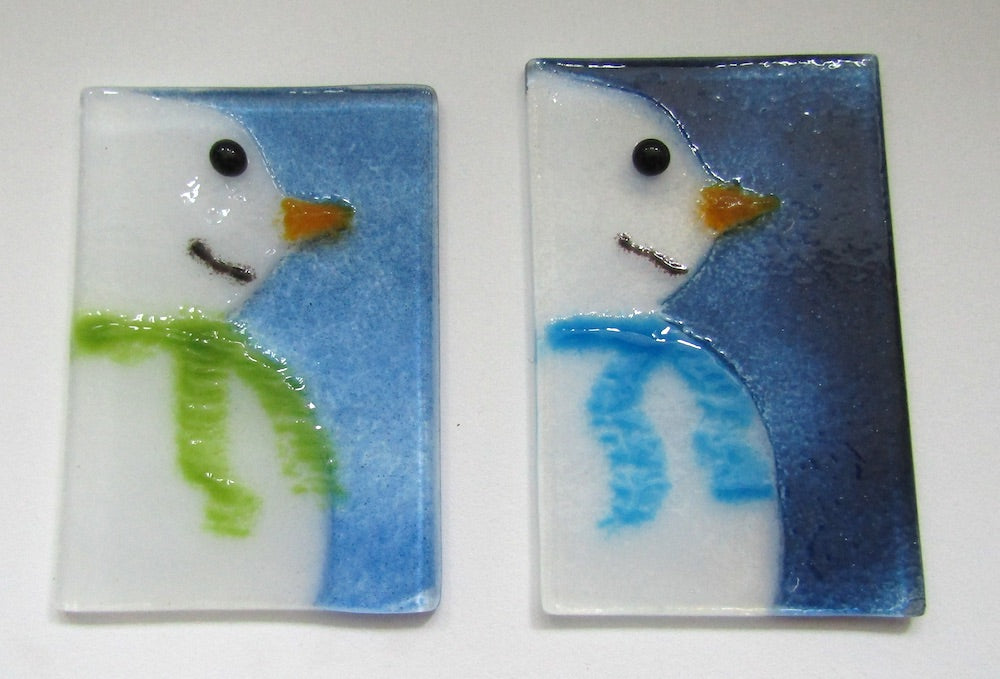 Snowmen Christmas Ornaments by The Glass Bakery