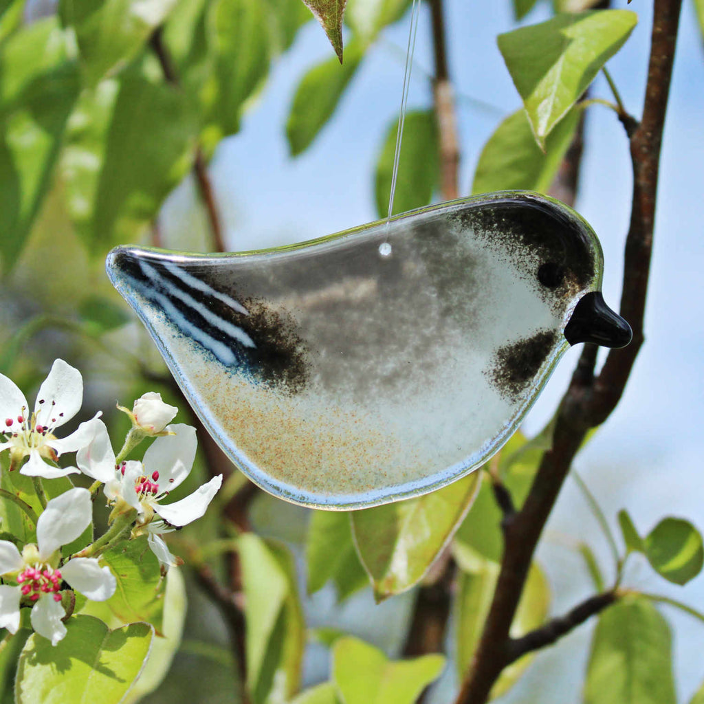 Hanging Chickadee Suncatcher by The Glass Bakery