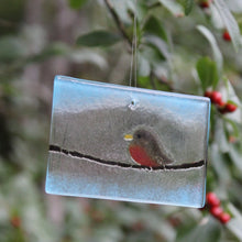 Load image into Gallery viewer, Robin on a wire suncatcher