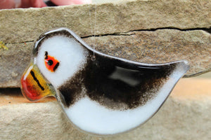Hanging Puffin Ornament by The Glass Bakery Ltd