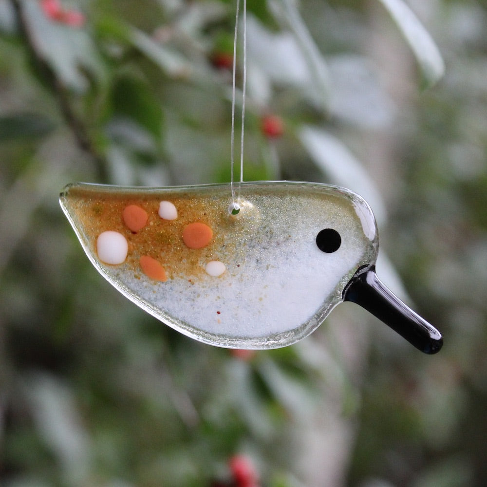 SandPiper Chick Hanging Ornament by The Glass Bakery
