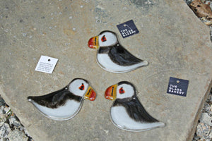 Collection of Hanging Puffin Ornaments by The Glass Bakery