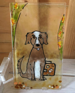 Dog Rehoming Panel  by The Glass Bakery