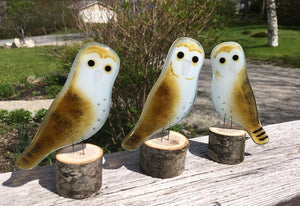 Group of Glass Barn Owls by The Glass Bakery Ltd