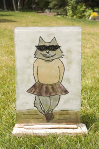 """The Recital"" Ballerina cat panel (stand not included)"