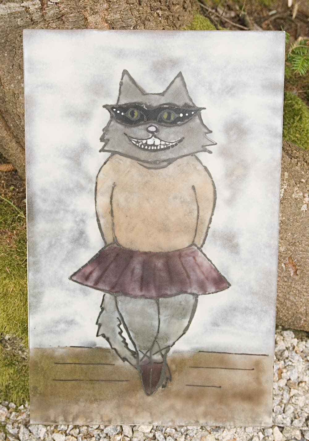 Glass Ballerina Cat (large panel)